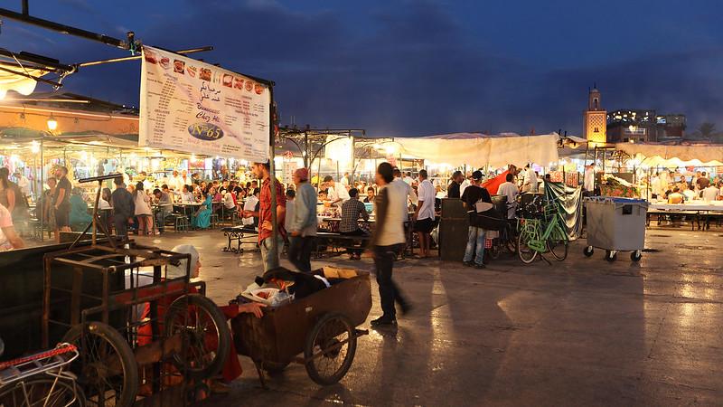 Food stalls of Jemaa el-Fnaa