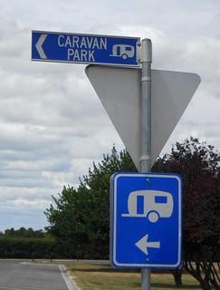 Caravan Park Sign