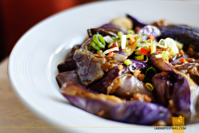 Braised Eggplant at the Star Cruises Superstar Aquarius