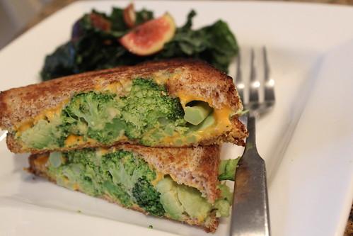 Broccoli and Cheese Panini