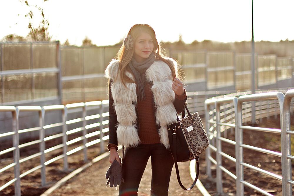 STYLE: fur vest