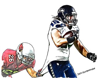 Seattle Seahawks Luke Willson - Arizona Cardinals  Rashad Johnson