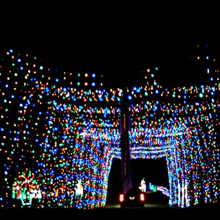 Driving thru the Gift Of Lights at @nhmotorspeedway #GiftOfLights #Christmas #NHMS