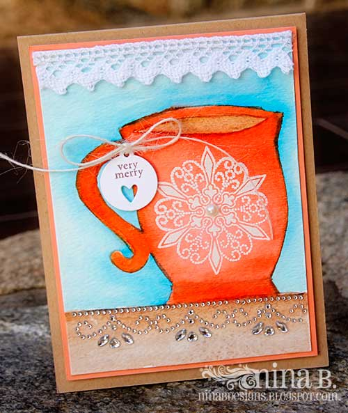 Watercolored Coffee-Card