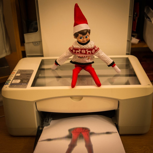 Jackie the House Elf on a Copier
