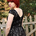Small photo of V-back Black Sequined Dress from Delia's