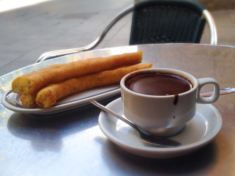 Hot Chocolate and Churros from Valor