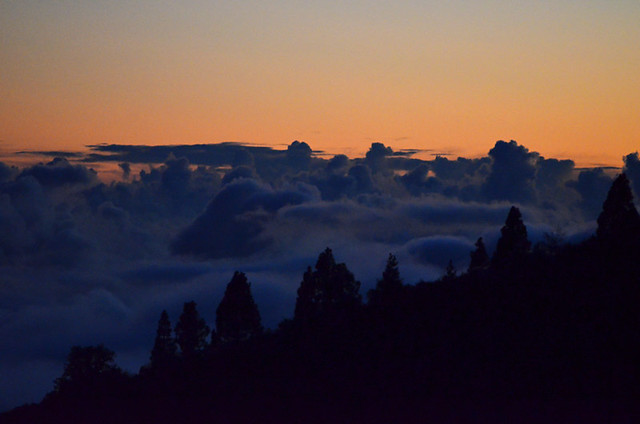 Sunset above the clouds, Vilaflor, November, Tenerife