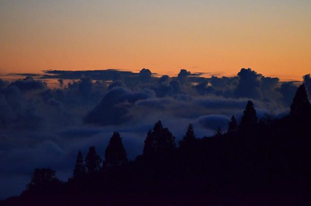 Sunset above the clouds, Vilaflor, November, Tenerife