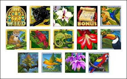 free Amazon Wild slot game symbols