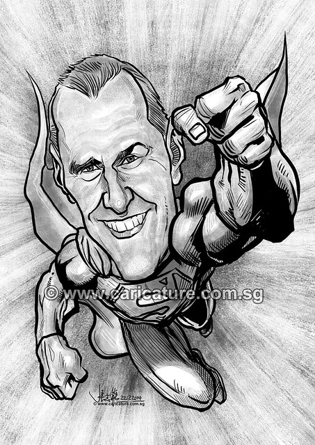 digital Keith Robson Superman caricature for eBay (watermarked)