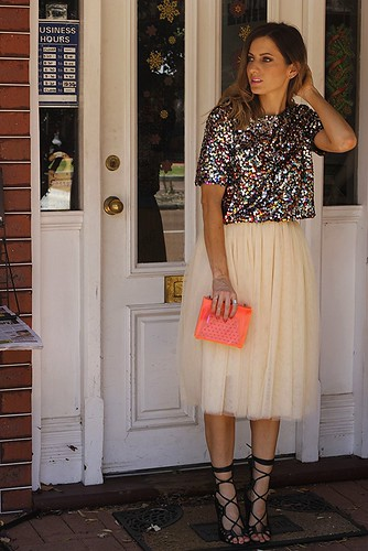 Sequin and Tulle outfit