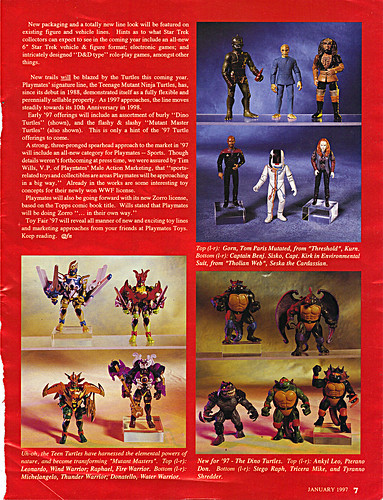 "ACTION FIGURE NEWS & TOY REVIEW : ""PLAYMATES TREKS ON INTO 1997"" pg.7 (( 1997 ))"