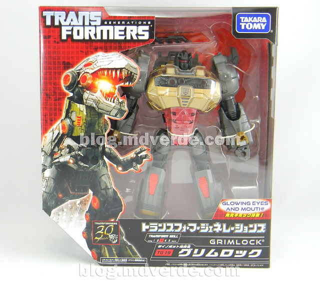 Transformers Grimlock Voyager - Transformers Generations Fall of Cybertron - caja