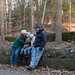 New Year's traditional hike in the woods by barbara liszcz photography