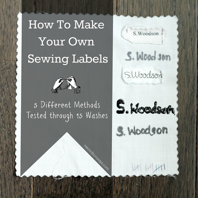 How To Make Your Own Sewing Labels - A 15 Wash Test Of 5 -6708