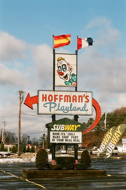 Hoffman's Playland Sign, January 2015