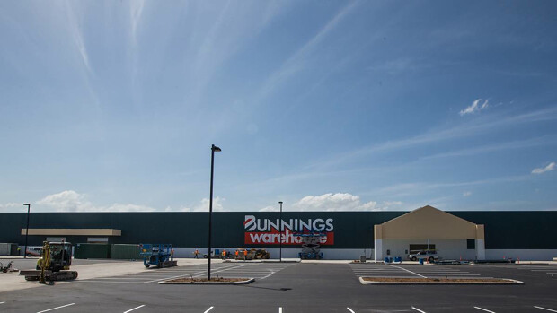 Bunnings Marsden Park during construction. Photo credit: Blacktown Sun