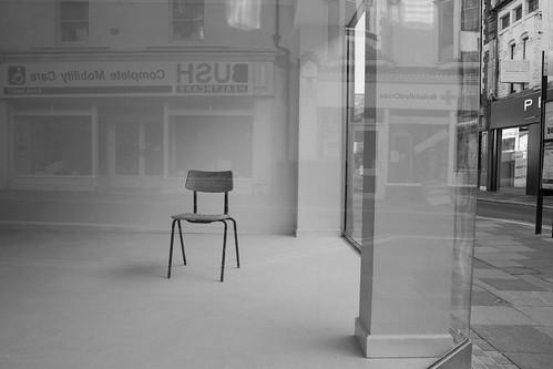 Empty chair ... Cadair wag, Pontypridd, south Wales