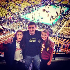 Where in the world is the Fieldhouse? Feeling our O-h-i-o roots in Boston! #LoveTheGame #CavsCeltics 🏀