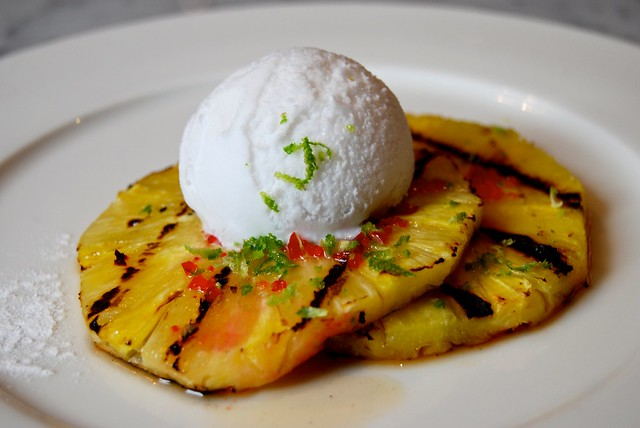 Josper Grilled Pineapple with Coconut Sorbet, Chilli & Lime