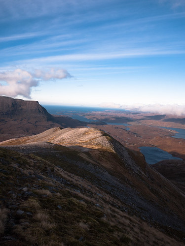 North ridge of Glas Bheinn (Assynt)