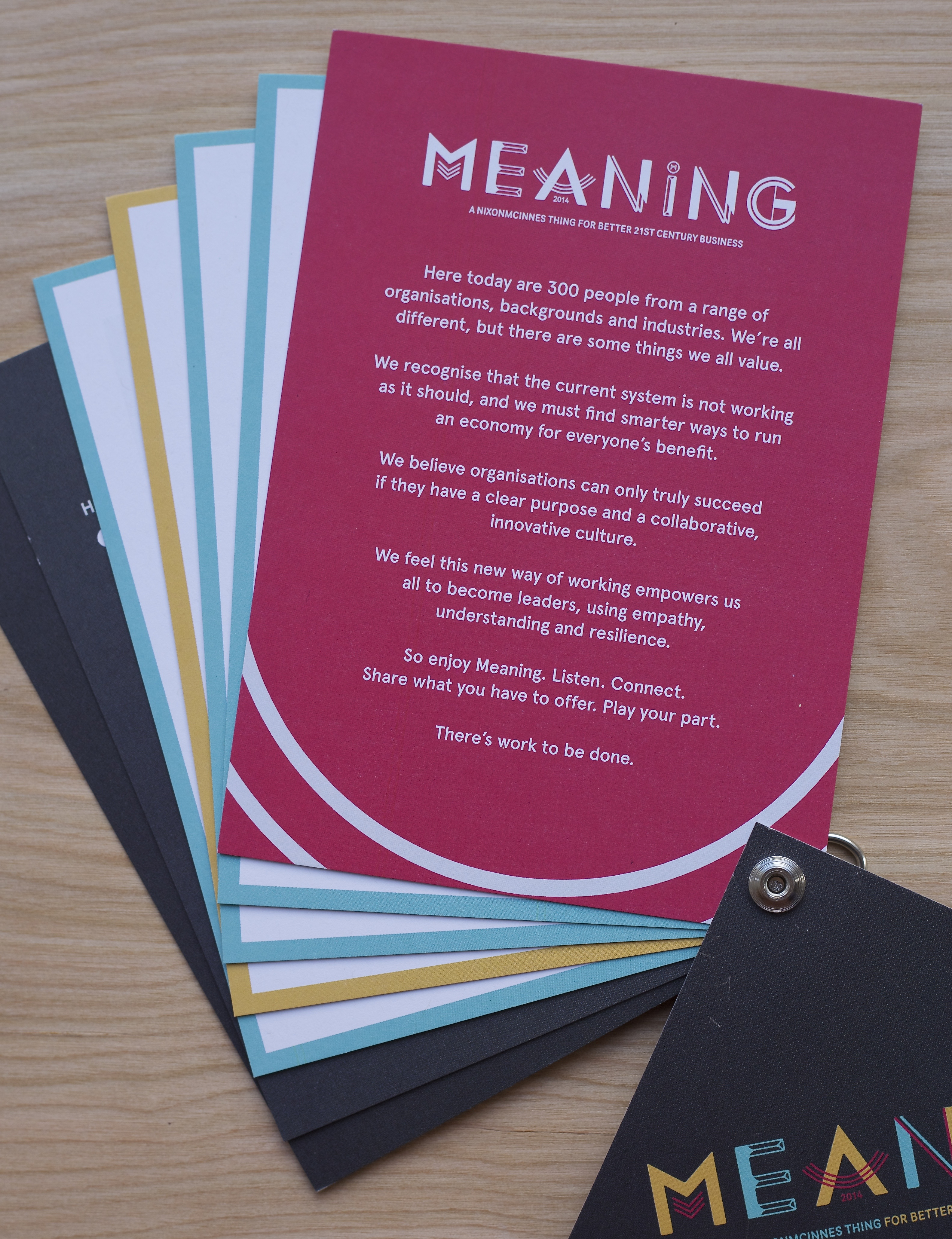 Meaning 2014 - Lanyard welcome page