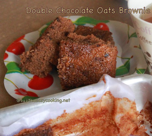 Double Choco Oats brownie3