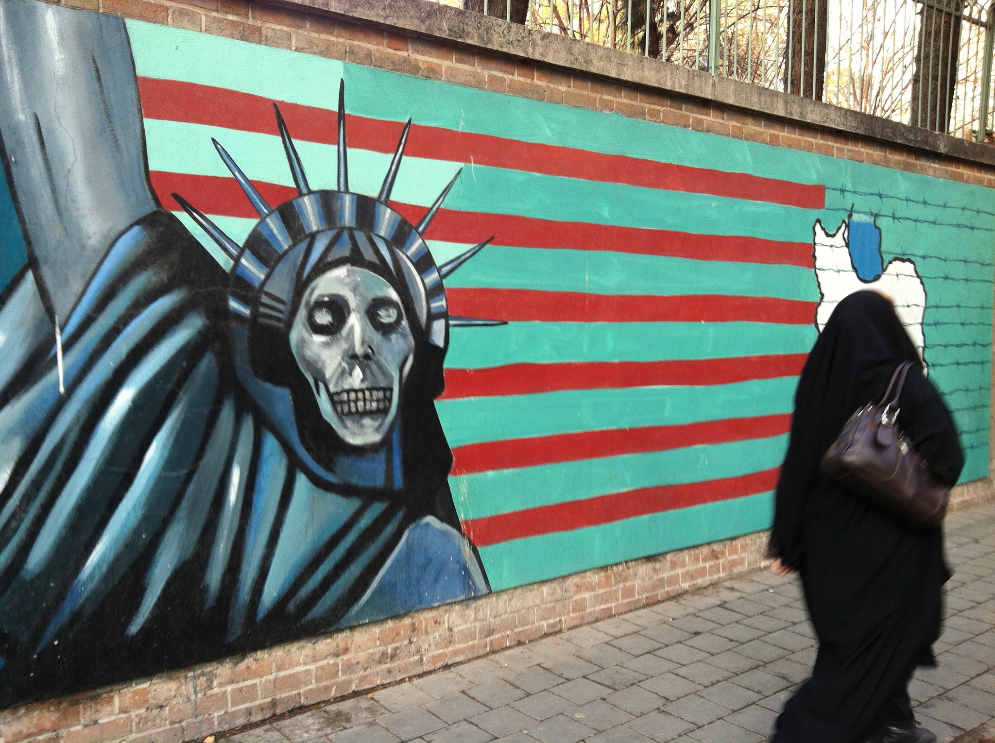Wall of the former U.S. Embassy, Tehran, Iran