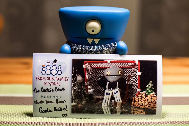 Uglyworld #2517 - Goalie Babo Xmas Carder - (Project On The Go - Image 347-365)