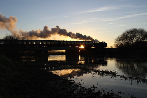sunset train steam locomotive peterborough svr nvr nenepark 1501