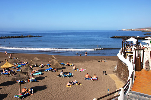Playa Troya,January, Costa Adeje, Tenerife
