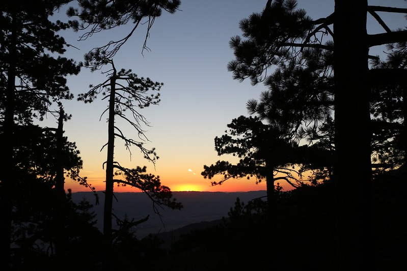 Sunrise on Black Mountain Road near the Fuller Ridge Trailhead