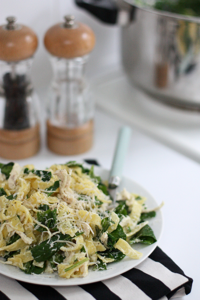 Chicken Fettuccine Alfredo With Spinach Everyday Reading