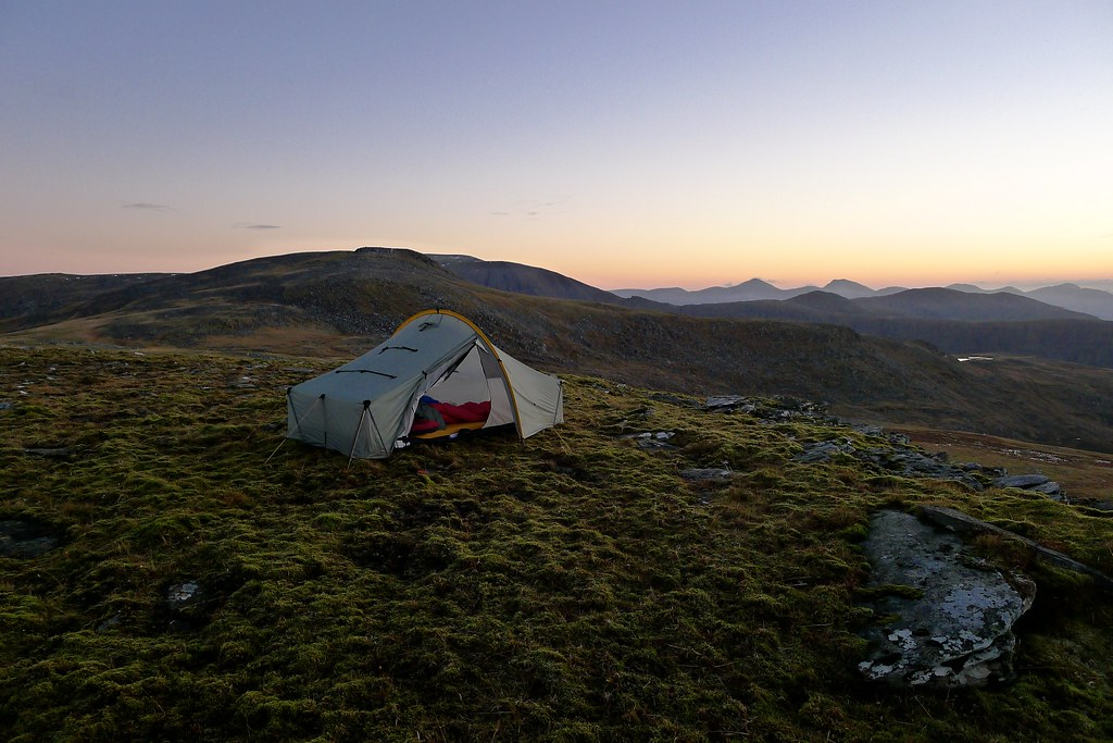 Tent after sunset