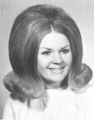 High School Senior at Mount Assisi Academy  back combed hair 1969