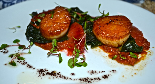The National Restaurant - pan seared maine scallops