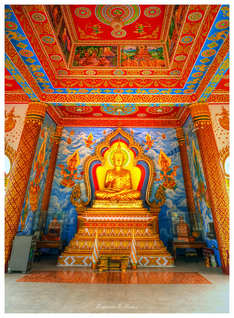 Sitting Buddha Shrine, Vientiane Laos