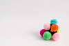 colorful cotton ball