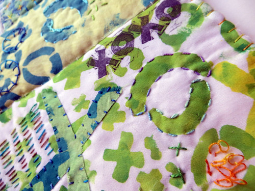 Big Smooch ~ art quilt (detail)