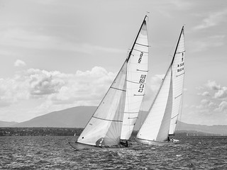 Sailing boats in Rolle