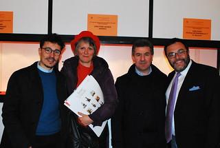 Giuseppe Dilorenzo e Daniela Iris Romano insieme al sindaco e all'assessore Altieri