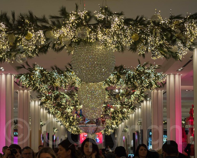 Holiday Decorations inside Macys Department Store on Herald Square, New ...