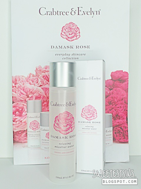 crabtree & evelyn damask rose relaxing micellar water
