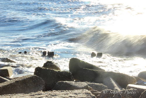 """Waves Crashing at East Point in Heislerville, NJ"""