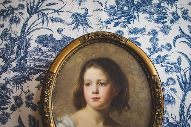 A portrait in one of the bedrooms of the canal house, Museum Van Loon, in Amsterdam.