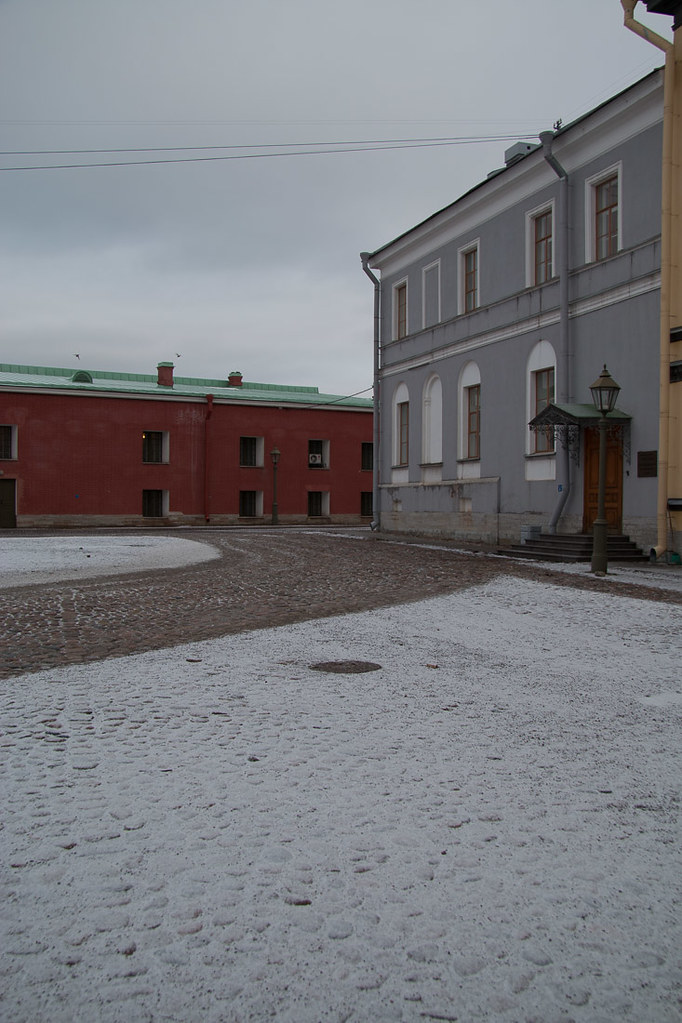 Grounds of the St. Peter and Paul Fortress in St. Petersburg, Russia