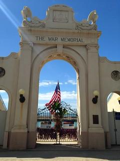 Image of Waikiki Natatorium (World War I Memorial). hawaii waikiki worldwari honolulu veteransday waikikiwarmemorialnatatorium veteransday2014