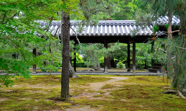 Covered walkway to temple