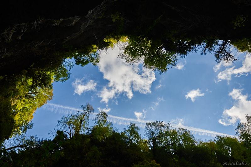 Sky above